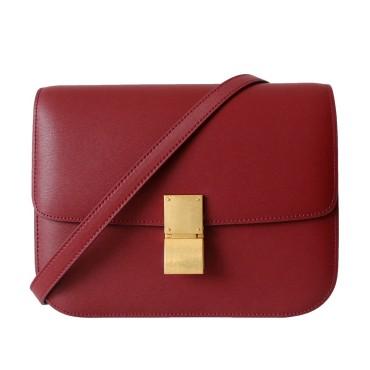 Eldora Genuine Leather Shoulder Bag Dark Red 77306