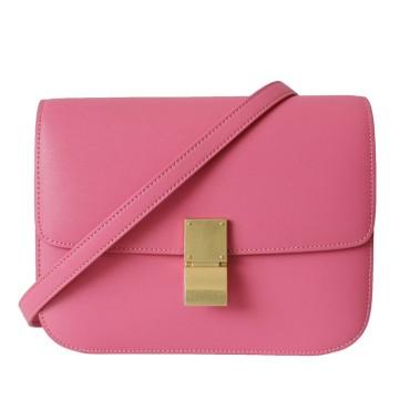 Eldora Genuine Leather Shoulder Bag Red 77306