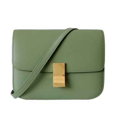 Eldora Genuine Leather Shoulder Bag Green 77306