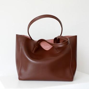 Eldora Genuine Leather Shoulder Bag Dark Red 77312