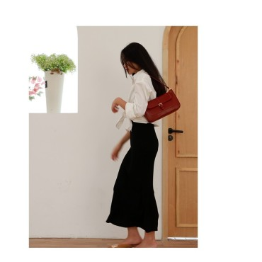Eldora Genuine Leather Top handle bag Red 77317