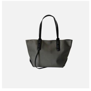 Eldora Genuine Leather Tote Bag Grey 77320