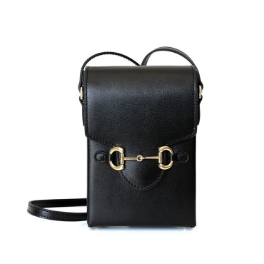 Eldora Genuine Leather Shoulder Bag Black 77322