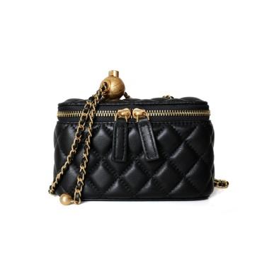Eldora Genuine Leather Shoulder Bag Black 77323