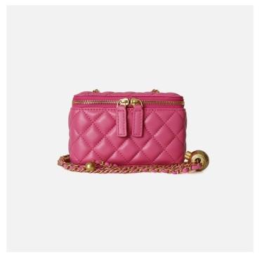 Eldora Genuine Leather Shoulder Bag Red 77323