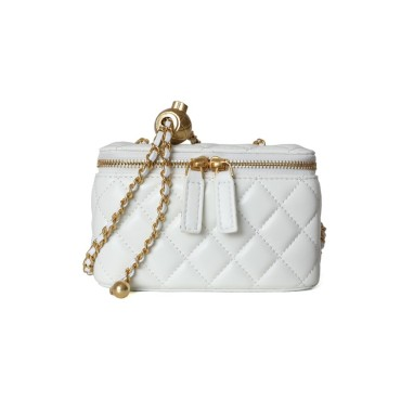 Eldora Genuine Leather Shoulder Bag White 77323