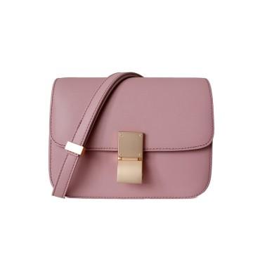 Eldora Genuine Leather Shoulder Bag Pink 77326