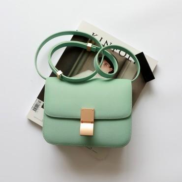Eldora Genuine Leather Shoulder Bag Lghit Green 77326