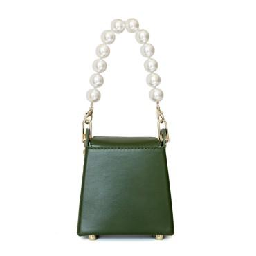 Eldora Genuine Leather Shoulder Bag Green 77327