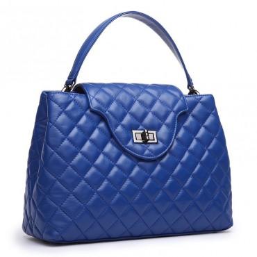 Bosquet Genuine Leather Satchel Bag Blue 75124
