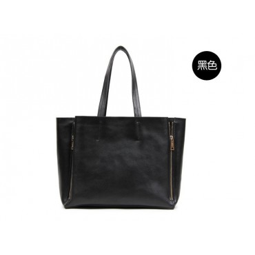 Willow Genuine Leather Tote Bag Black 75276