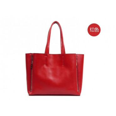 Willow Genuine Leather Tote Bag Red 75276
