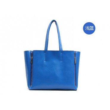 Willow Genuine Leather Tote Bag Blue 75276