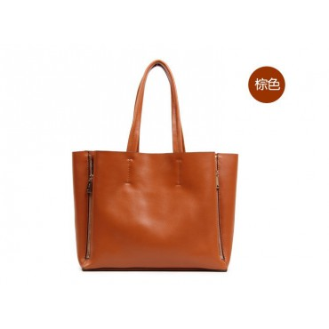 Willow Genuine Leather Tote Bag Brown 75276