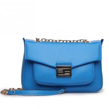 Suzon Genuine Leather Shoulder Bag Blue 75127