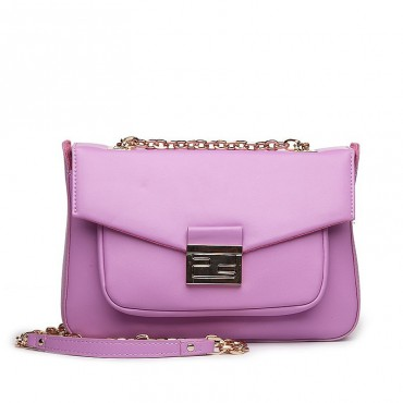 Suzon Genuine Leather Shoulder Bag Purple 75127