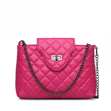 Sacha Genuine Leather Shoulder Bag Magenta 75128