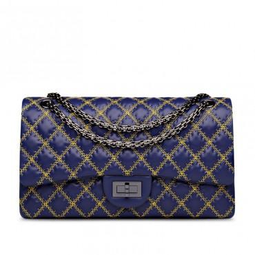 Suzanne Genuine Leather Shoulder Bag Blue 75133