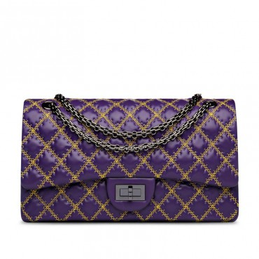 Suzanne Genuine Leather Shoulder Bag Purple 75133