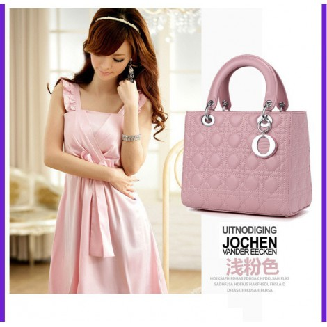 Alcine Genuine Leather Tote Bag Pink 75337