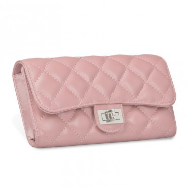 Murat Genuine Lambskin Leather Wallet Pink 65101