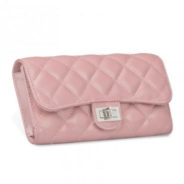 Murat Genuine Lambskin Leather Wallet Pink 65101