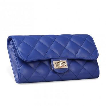 Murat Genuine Lambskin Leather Wallet Blue 65101