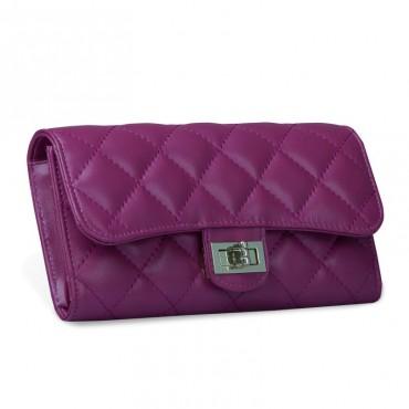 Murat Genuine Lambskin Leather Wallet Purple 65101