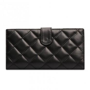 Acacie Genuine Lambskin Leather Wallet Black 65102
