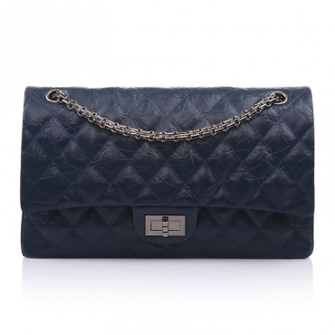 Clara Genuine Leather Shoulder Bag Dark Blue 75138
