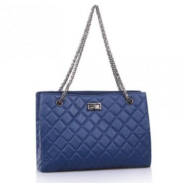 Suzie Genuine Leather Tote Bag Dark blue 75139
