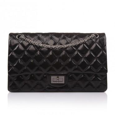 Edith Genuine Leather Shoulder Bag Black 75142