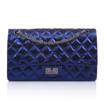 Aveline Genuine Leather Shoulder Bag Blue 75143