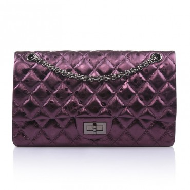 Aveline Genuine Leather Shoulder Bag Purple 75143