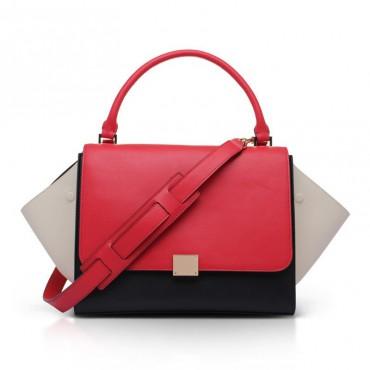 Elizabeth Genuine Leather Satchel Bag Magenta 75319