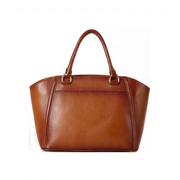 Genuine Leather Tote Bag Brown 75564