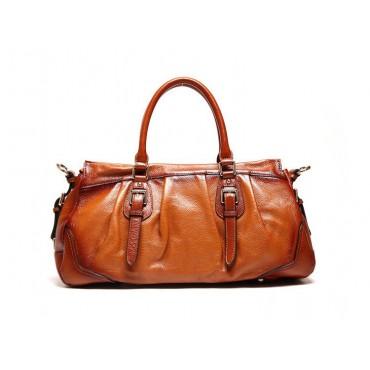 Genuine Leather Tote Bag Brown 75585