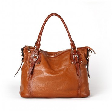 Genuine Leather Tote Bag Brown 75588
