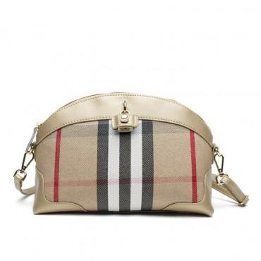 Shelley Genuine Leather Shoulder Bag Gold 75172
