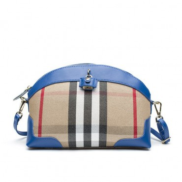 Shelley Genuine Leather Shoulder Bag Blue 75172