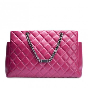 Colombe Genuine Leather Tote Bag Magenta 75107