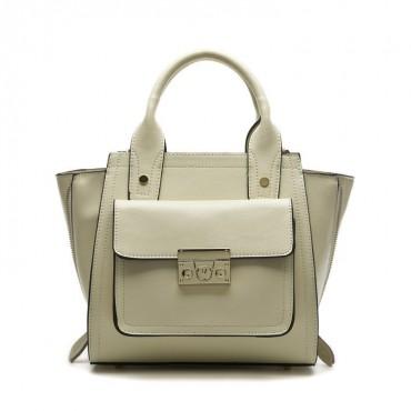 Faith Genuine Leather Satchel Bag Gold 75174